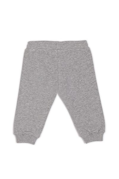 Baby Boys & Girls Grey Logo Cotton Trousers