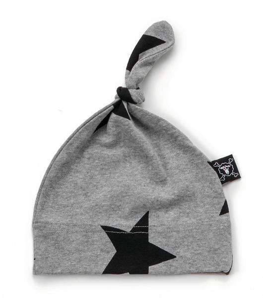 Baby Boys & Girls Grey Star Cotton Hat
