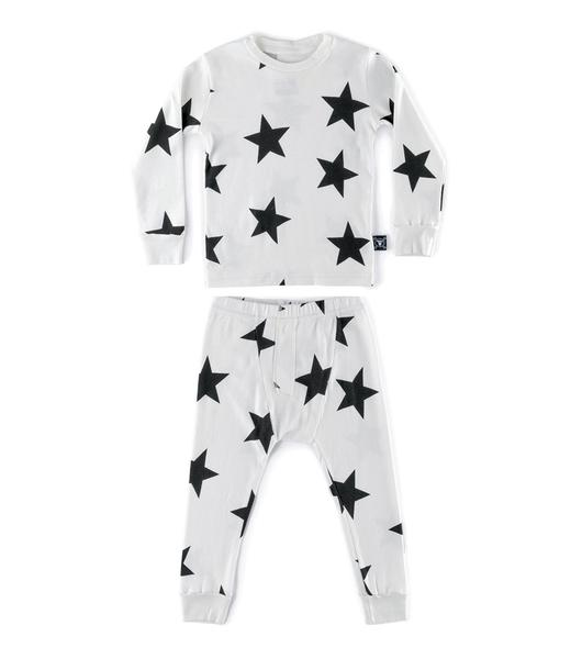 Boys & Girls White Star Cotton Set