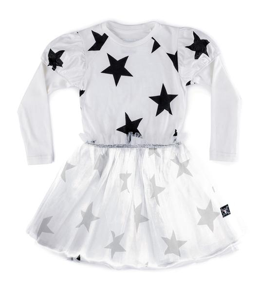 Girls White Fairytale Star Tulle Dress