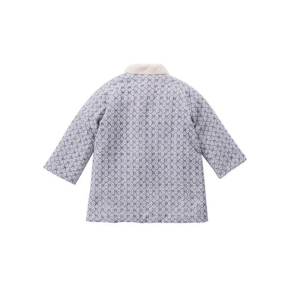 Girls Blue Sparkle Cotton Coat