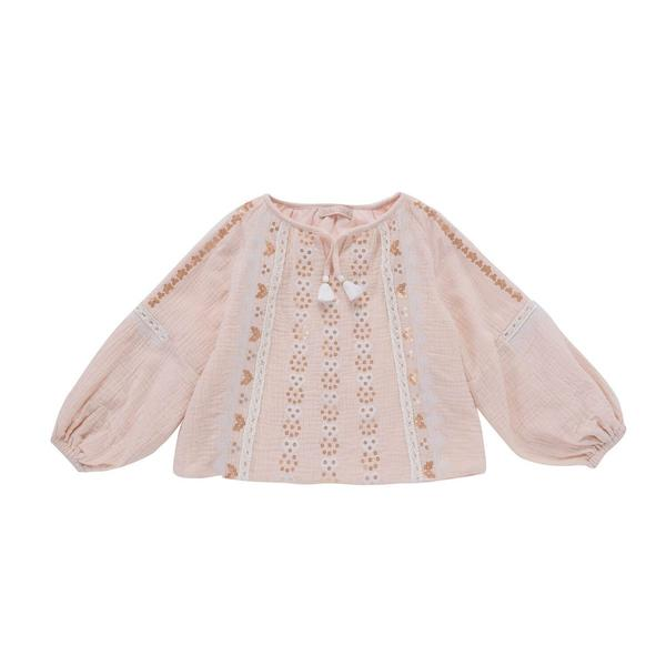 Girls Blossom Cotton Blouse