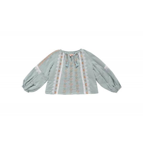 Girls Silver Cloud Cotton Blouse