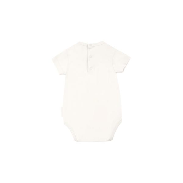 Baby Off White Pima Cotton Babysuit