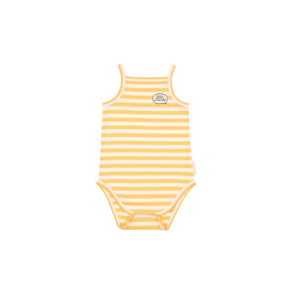 Baby Cream Stripes Cotton Babysuit
