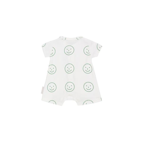 Baby White Pima Cotton Babysuit