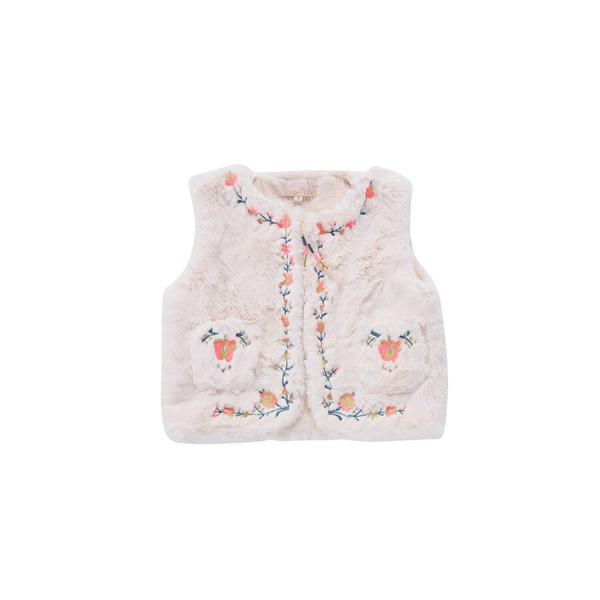 Girls Cream Gilet