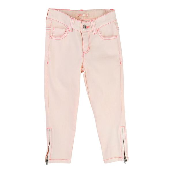 Girls Pink Cotton Trousers With Zip-Up At Ankle - CÉMAROSE | Children's Fashion Store