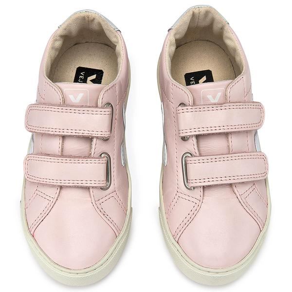 Girls Pink Leather Velcro Shoes - CÉMAROSE | Children's Fashion Store - 1