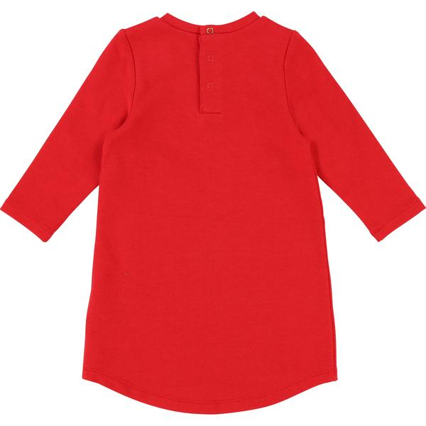 Baby Girls Pop Red Cotton Dress