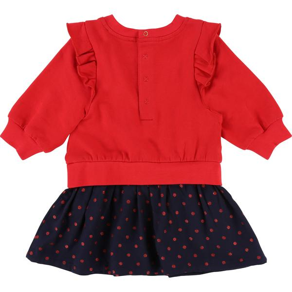 Baby Girl Pop Red Cotton Dress