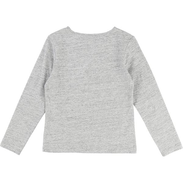 Girls Chinese Grey Cotton T-shirt