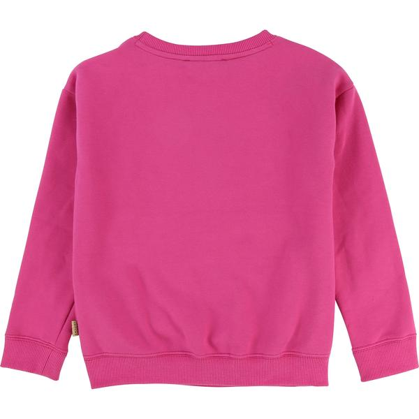 Girls Rose Red Cotton Sweatshirt