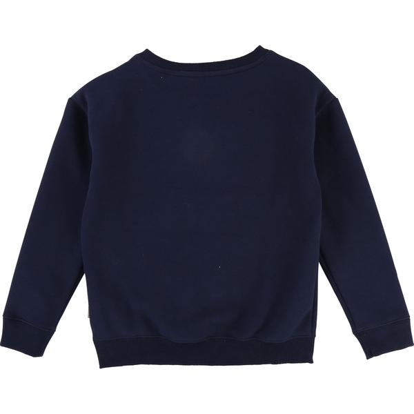 Girls Dark Indigo Cotton Sweatshirt