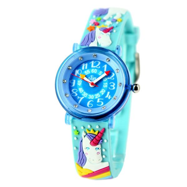 Girls Blue Unicorn Watch(6-9Y)