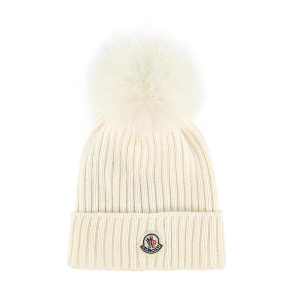 Girls White Virgin Wool Hat