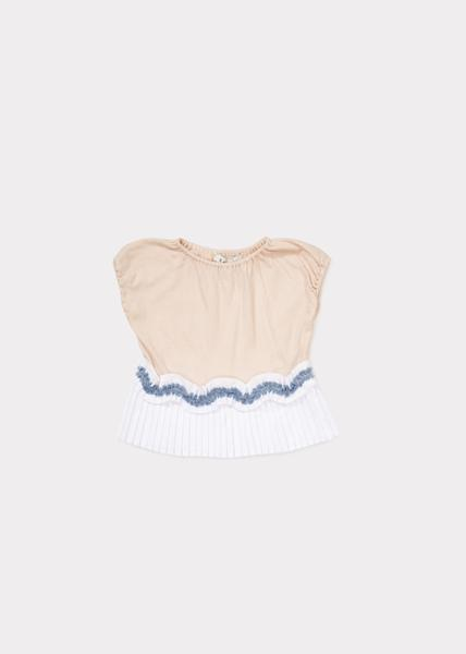 Baby Girls Blush Pink Cotton Jersey T-shirt