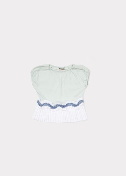 Girls Light Mint Cotton Jersey T-shirt