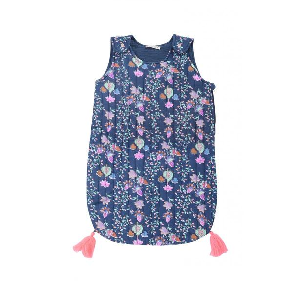 Baby Girls Blue Pine Cone Cotton Sleeping Bag