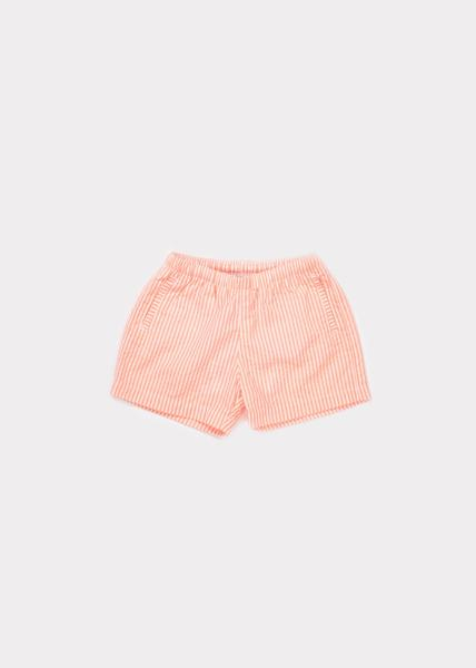 Baby Girls Geo Check Jersey Swimshorts