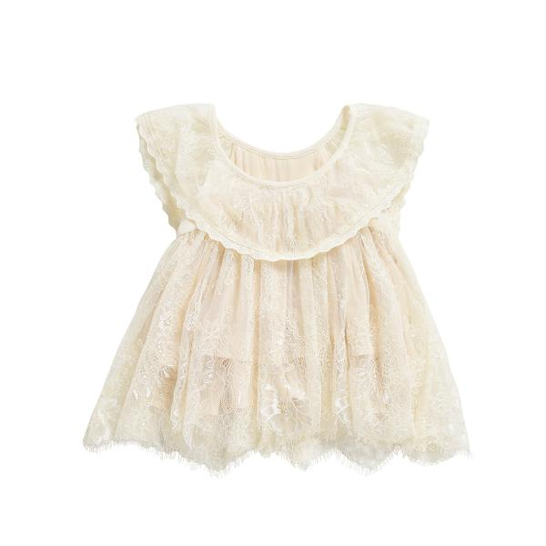 Girls Cream Mily Dress