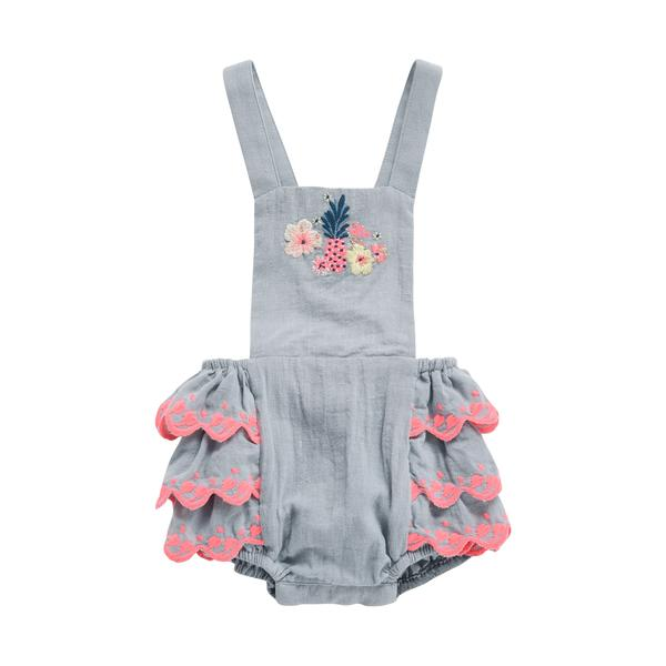 Baby Girls Silver Cloud Babysuits