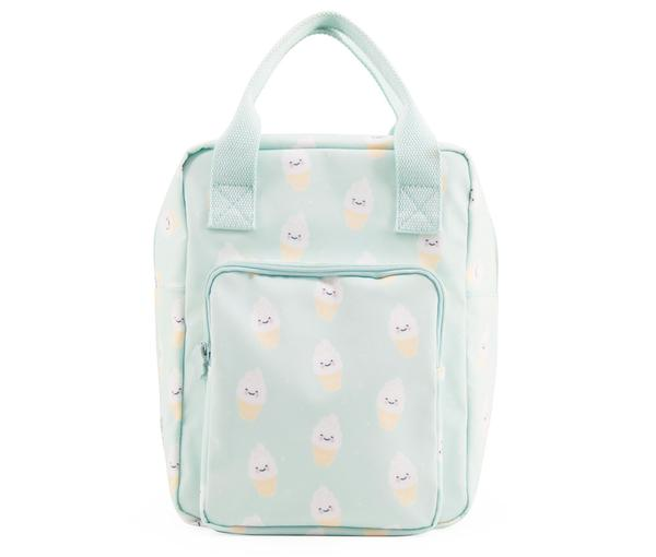 Girls Mint Green Icecream Printed Backpack(20 x 13 x 26 cm)
