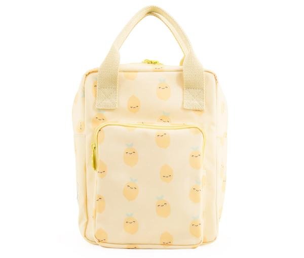 Girls Yellow Lemon Printed Backpack(20 x 13 x 26 cm)