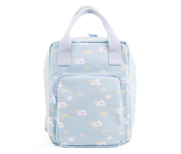 Girls Light Blue Rainbow Printed Backpack(20 x 13 x 26 cm)