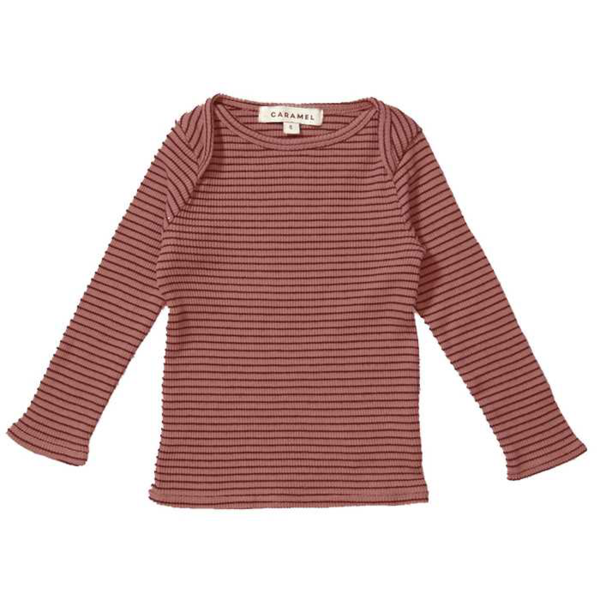 Baby Girls Red Striped Cotton Shirt