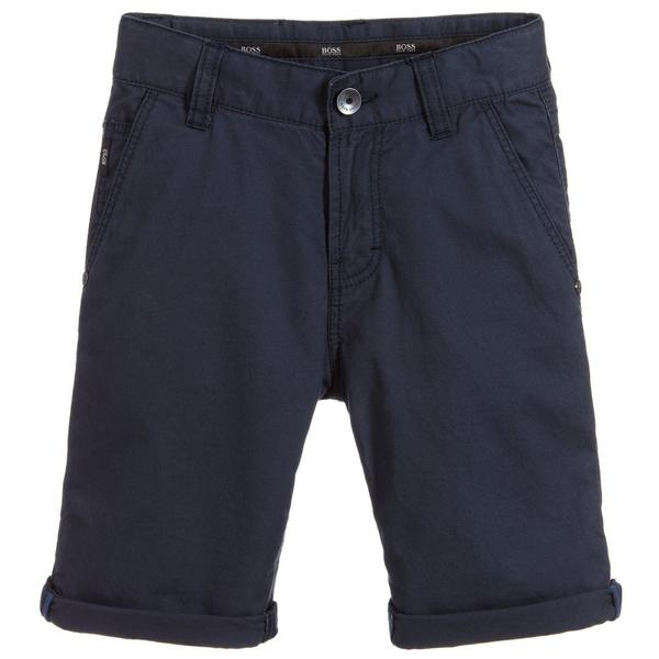 Boys Ozone Cotton Twill Bermuda Shorts