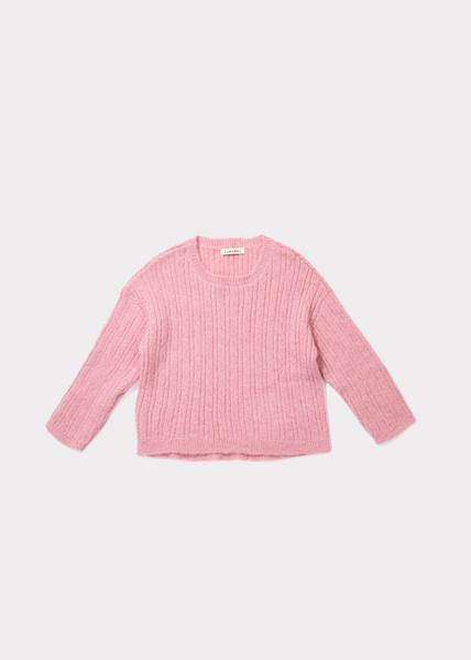 Girls Pink Knitted Sweater