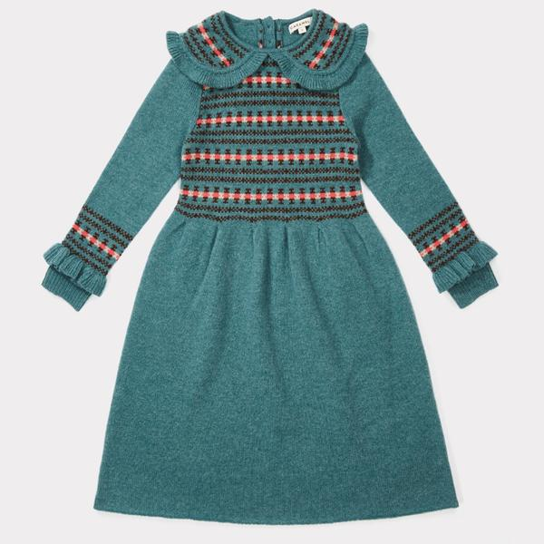 Girls Duck Egg Blue Dress