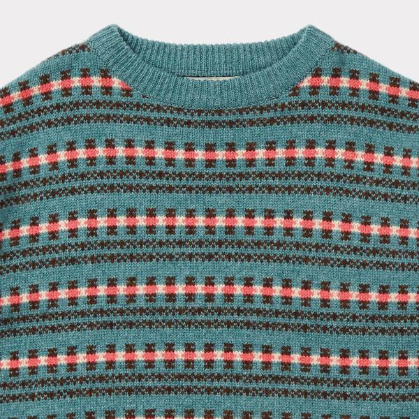 Girls Duck Egg Blue Sweater