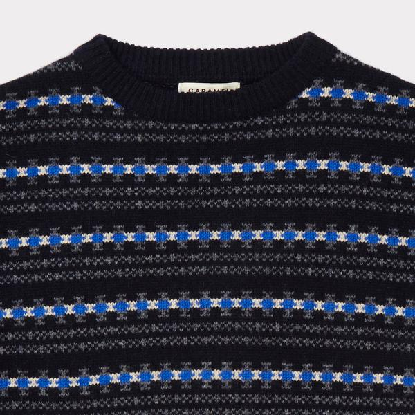 Girls Navy Fairisle Sweater