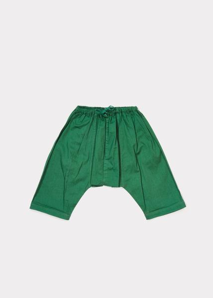 Baby Boys Mid Green Cotton Woven Trousers
