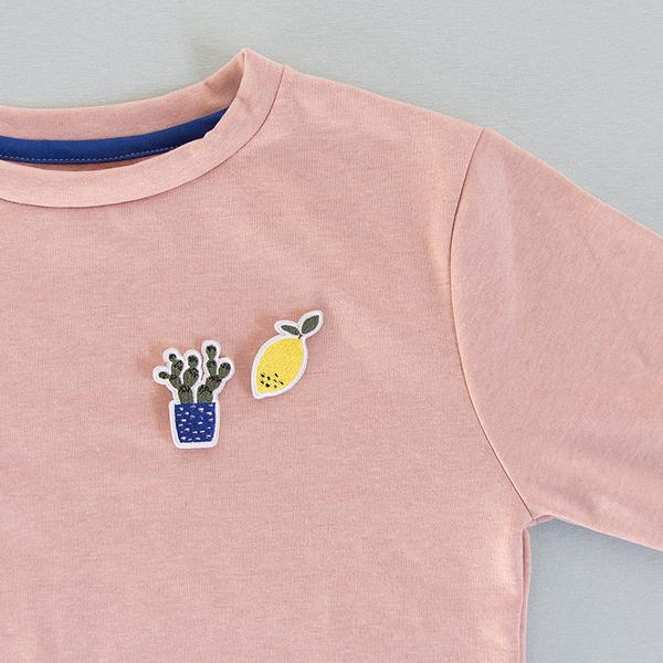 Sticky lemon Embroidered Pins Cactus