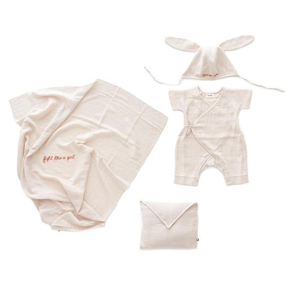 Baby Pink Cotton Baby Swaddle Set