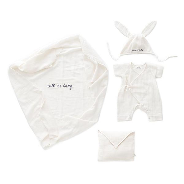 Baby White Cotton Baby Swaddle Set