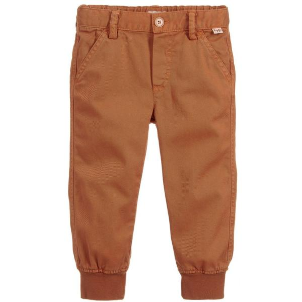 Baby Boys Cinnamon Cotton Trousers