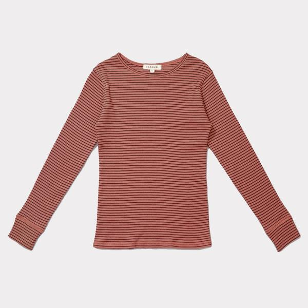 Girls Rust Cotton Rib Jersey T-shirt