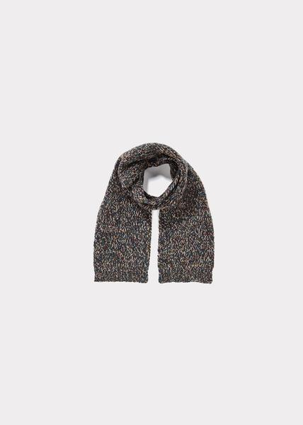 Baby Boys Dark Grey Wool Scarf