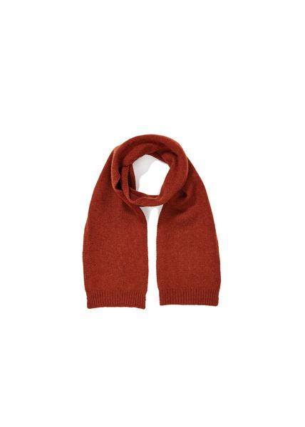 Girls Rust Red Cashmere Scarf
