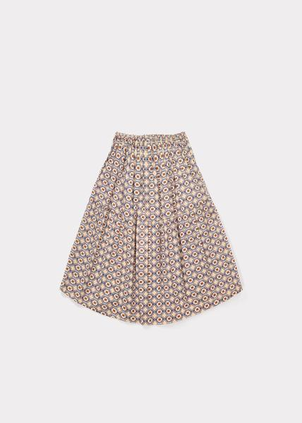 Girls Kaleido Blue Cotton Woven Skirt