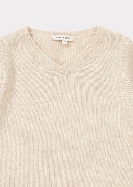 Girls Oatmeal Cashmere Jumper