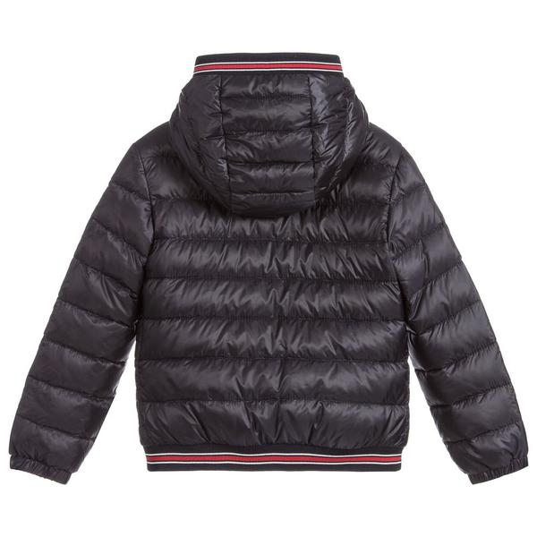 Boys Navy Blue Logo Coat