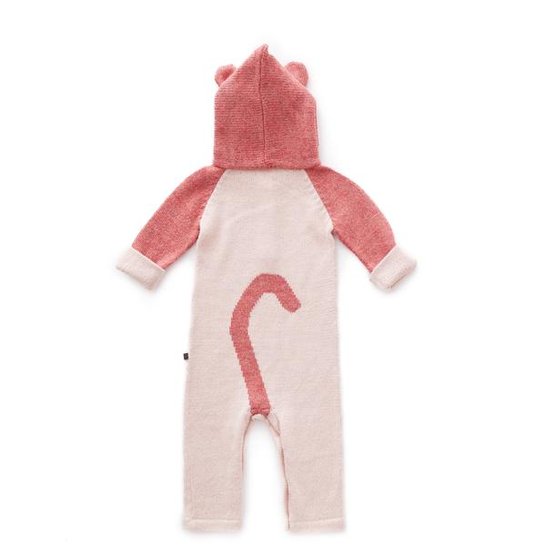 Baby Pink Panther Baby Alpaca Hooded Jumper