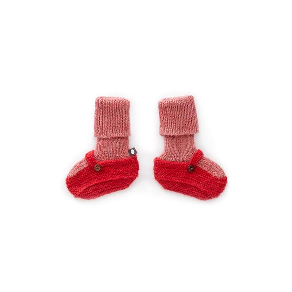 Baby Rose & Red Baby Alpaca Sock Booties