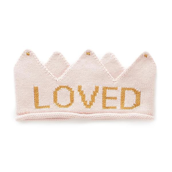 Baby Girls Light Pink & Loved Cotton Crown