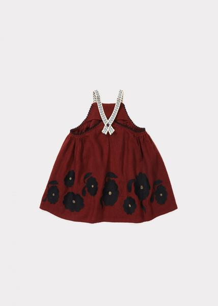 Baby Girls Burnt Ochre Cotton Dress
